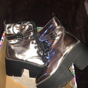 Pewter Platform Boots